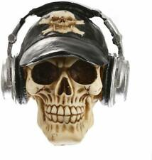 Skull Head with Headphone Decorative resin ornament  gift