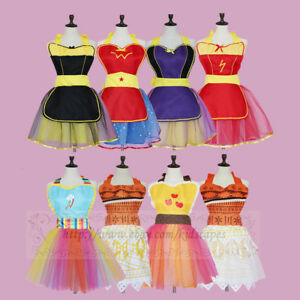 Halloween Party Dress Lady Moana Princess Fancy Dresses Womens Cotton Lace Dress