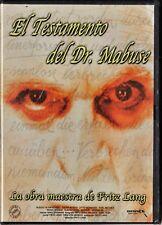 Fritz Lang: EL TESTAMENTO DEL DR. MABUSE. Tarifa plana envío dvd España: 5 €