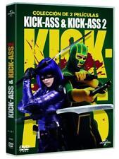 KICK-ASS COLECCION DE 2 PELICULAS DVD PACK KICK ASS 1 2 NUEVO (SIN ABRIR)