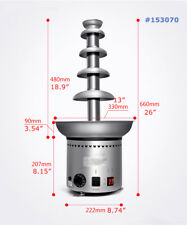 Party Commercial Chocolate Fountain Stainless Steel Hotel Electric Waterfall110V