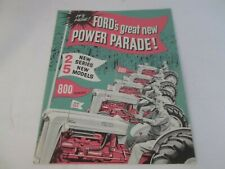 Ford 800 600 Series Tractor Models 850 860 640 650 660 Sales Brochure