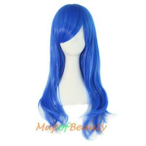 Lot of (5x) Long Curly Cosplay Wigs - BLUE