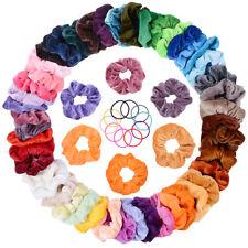 46 Colori Elastico In Velluto Scrunchies, Capelli Fasce Nastri Per Capelli