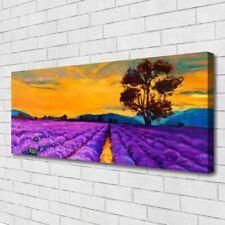 Leinwand-Bilder Wandbild Canvas Kunstdruck 125x50 Feld Landschaft
