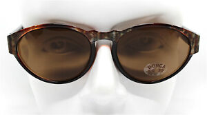 Made IN Italy Sunglasses Woman Oval Brown Python Snake Vintage 80