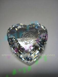 Swarovski Crystal SCS Community Clear Heart 896979 Retired 2007. MIB+COA.