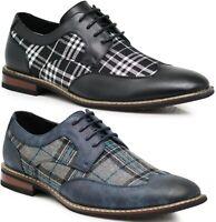 Parrazo Men Dress Shoes Wingtip Oxford Leather Line Lace Up Formal Tit03