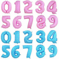 """32"""" Large Number Foil Balloons Helium Ballons Baby Birthday Wedding Party Decor"""