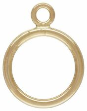 14KT 14/20 Gold Filled Round Toggle Clasp. 11mm.  16mm Bar. 1 Set ~2033-34~
