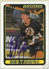 BOB SWEENEY 1992 TOPPS BOSTON BRUINS  AUTOGRAPHED HOCKEY CARD JSA
