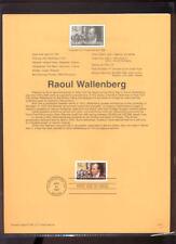 #3135 32c Raoul Wallenberg USPS #9711 Souvenir Page