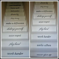 LARGE STAIRS IN THIS HOUSE RULES DREAM BIG PLAY HARD STICKER WALL TRANSFER DECAL
