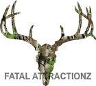 Camo Deer Skull Big Rack Vinyl Sticker Decal Hunting whitetail trophy buck