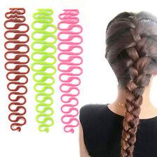 2 stk Damen Frisurenhilfe ZOPF Haarflechte Haarknoten Haar Haarklammer