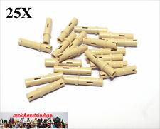 Tan pins 3L NEW REF 32556 Lego Technic 10 connecteurs longs beiges Neufs