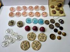 Job Lot Vintage & Antique Buttons, Interesting Collection, Glass Bakelite Etc.