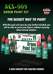 Green paint set