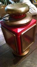 Used Retro Oil Lantern Outdoor Camping Kerosene Hurricane Lamp Red carriage