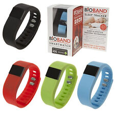 BIOBAND SLEEP TRACK SMART WATCH BAND WRISTBAND EXERCISE LED TIME IOS ANDROID