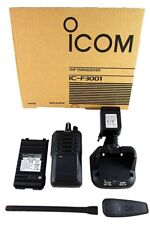 Icom F3001 Rc Vhf 136-174 Radio with Battery Rapid Charger Antenna Mdc1200 Ip54