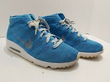Nike Air Lunarmax Flyknit Chukka sz10 NYC SE Blue Glow (1234567890)