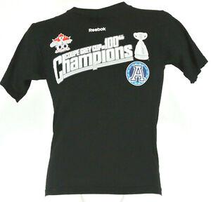 TORONTO ARGONAUTS CFL Football 2012 Grey Cup 100 Champions Shirt Men's Size S 34