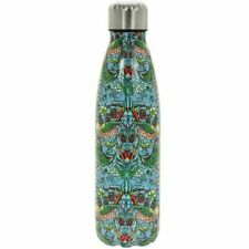 William Morris Strawberry Thief Teal Stainless Steel Water Bottle Flask Drinks