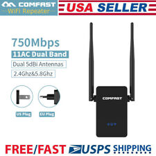 750Mbps WiFi Signal Range Booster Network Extender Amplifier Internet Repeater