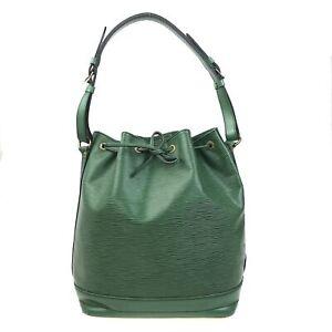 100% Authentic Louis Vuitton Epi Noe Shoulder Bag Green M44004 [Used] {07-0274}