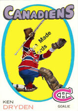 Custom made Topps  1971-72 Montreal Canadiens Ken Dryden hockey card