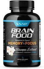 Nootropic Brain Booster Supplement Improve Energy, Memory, Focus & Clarity, 60ct