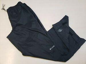 Columbia Mens Black Omni-Tech Waterproof Pants Sz Large (32L)