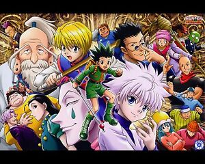 Hunter X Hunter Poster Anime Neferpitou Gon Killua Fight Art Print 16x20 Inches