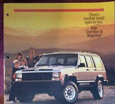 1986 AMC JEEP CHEROKEE WAGONEER SALES BROCHURE VF
