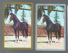 Playing Swap Cards 2 GENUINE 70'S  B/ B    HORSES  IN  THE YARD K70 NEWSAGENTS