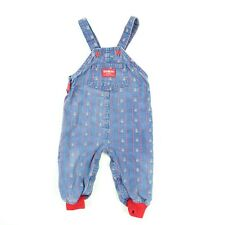 Vintage Osh Kosh B'Gosh Infant Denim Overalls Teddy Bear Print 24 Month Rare
