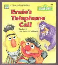 Vintage Children's Whitman Tell-A-Tale Book ERNIE'S TELEPHONE CALL Sesame Street