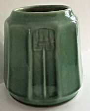 Vintage Red Wing Pottery Art Deco Green Vase 181 Earlier Shape from 1930's
