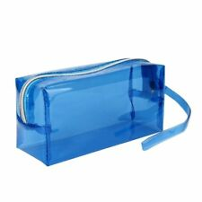 Large Transparent Zipper Cosmetic Jelly Pencil Case Office School Stationery