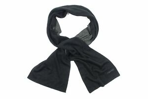 CALVIN KLEIN CK TWO TONE BLACK GRAY EMBROIDERED SCARF SCARVES MENS NEW