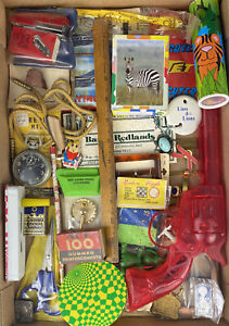 Vintage Junk Drawer Lot Collection Smalls Stopwatch Sterling Toys Lions Club