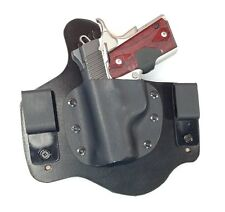 Leather Kydex Holster fits KIMBER ULTRA CARRY II 9mm 40 45 leather lined IWB MTO