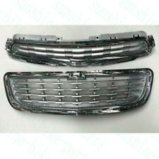 2xFor Chevrolet Trax 2014-16 Auto SILVERY Chromed Front Upper+Lower Grille REFIT