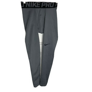 NWT NIKE PRO mens size Small gray stay warm training tights style 596297