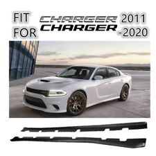 For 2011-2020 Dodge Charger Unpainted Matte Black Side Skirts Extension body kit
