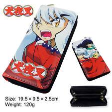Colorful Anime Inuyasha long style PU wallet printed with Kagome&Inuyasha