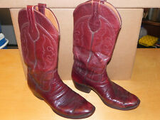 VINTAGE R J FOLEY Women's Western Cowboy Boots Size 9d Distressed Hand Made