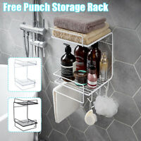 Wall Mounted Bathroom Shampoo Shower Organizer Shelf Holder  Shelf Rack