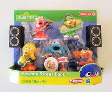 Sesame Street Musical Band Ernie, Bert, Elmo, Big Bird Cookie Monster Figures